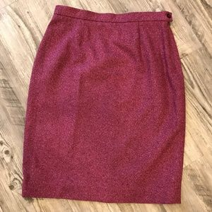 Mulberry wool skirt